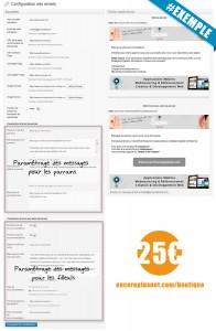 Paramétrage des envois - Plugin WordPress