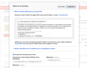 script remarketing adwords