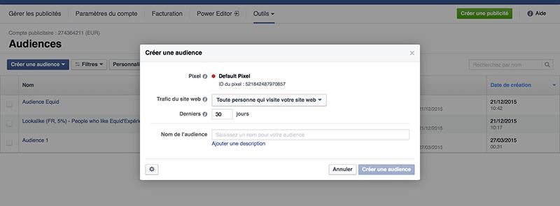 créer campagne pub facebook